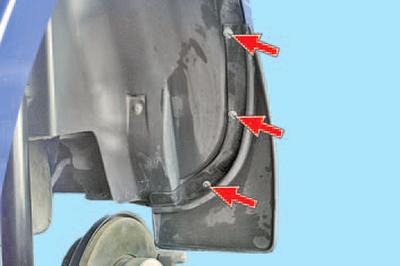 Снятие и установка брызговиков колес и подкрылков Шкода Фабия