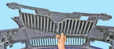 Снятие и установка элементов переднего бампера Шкода Фабия