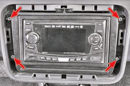 Снятие и установка панели приборов Шкода Фабия