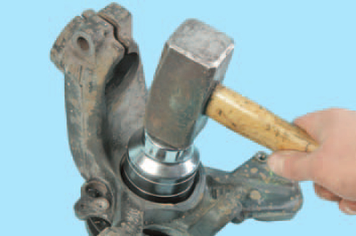 Замена подшипника ступицы переднего колеса Шкода Фабия