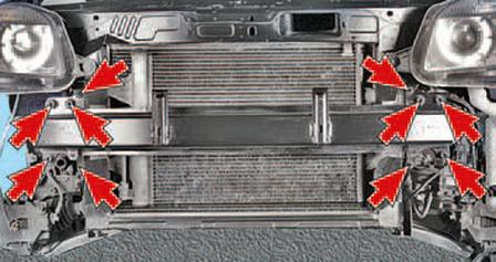 Снятие и установка конденсора кондиционера Шкода Фабия