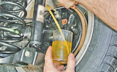 Замена тормозной жидкости в гидроприводе тормозной системы Шкода Фабия