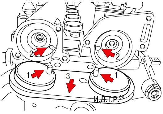 Регулировка фаз газораспределительного механизма двигателей bbm, bzg и bts Шкода Фабия