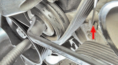 Снятие и установка ремня привода вспомогательных агрегатов Шкода Фабия