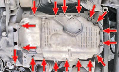 Замена уплотнения масляного картера двигателя Шкода Фабия