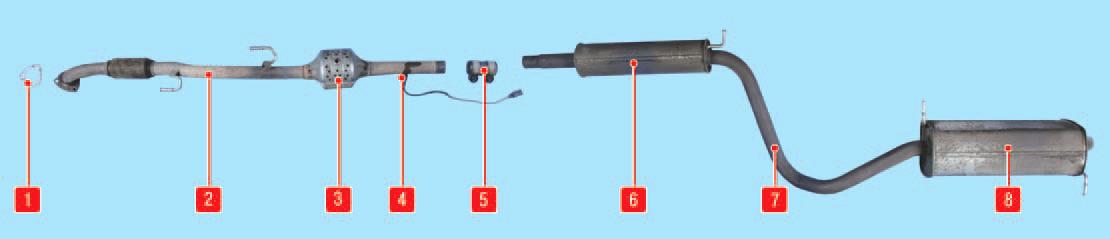 Замена подушек подвески системы выпуска отработавших газов Шкода Фабия